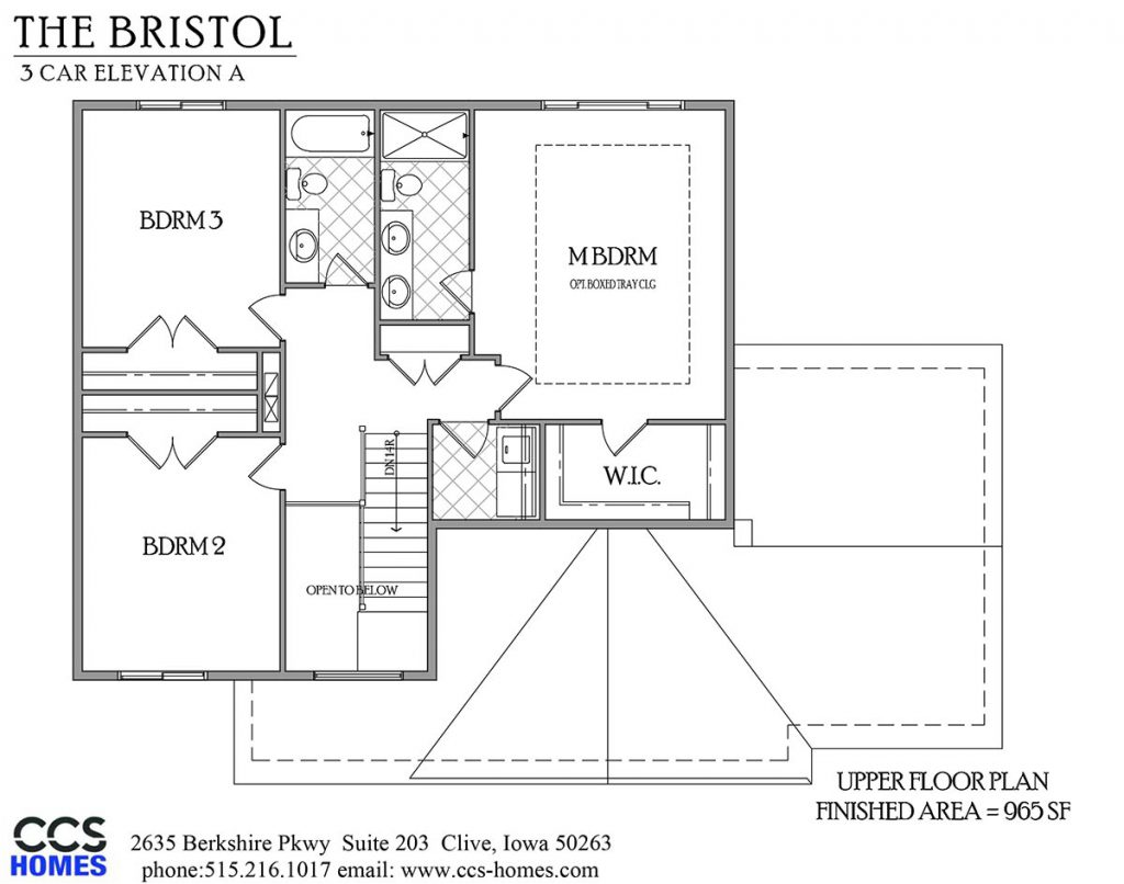 The bristol two story floor plan ccs homes des moines for Iowa home builders floor plans
