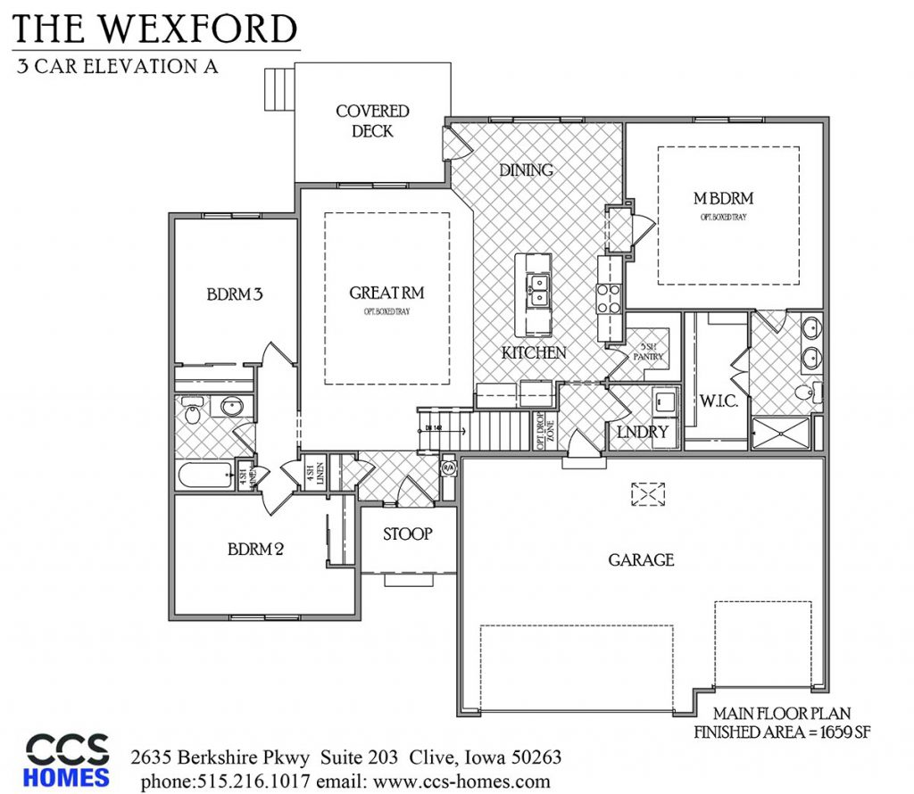 The wexford ranch floor plan ccs homes des moines House plans iowa